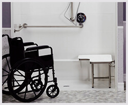 ada wheelchair shower solutions by cozy tubs