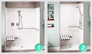roll in shower options from cozy tubs